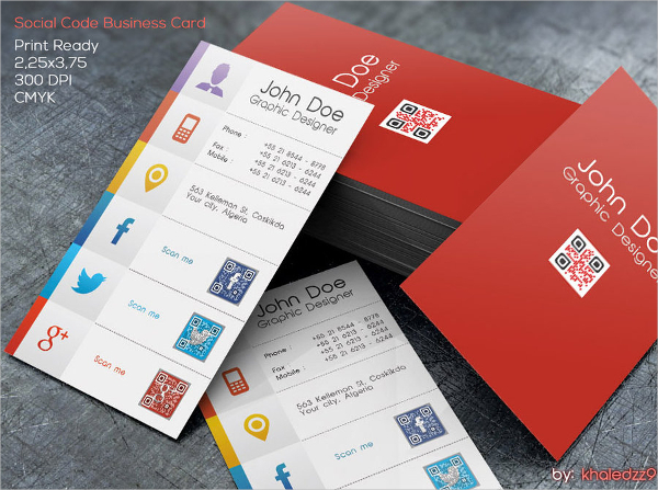 Sample Editable Business Card Template