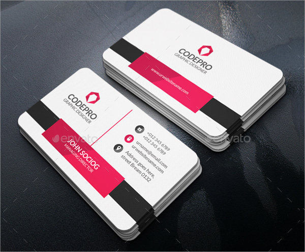 Sample Elegant Business Card