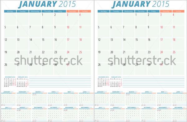 Sample Event Calendar Template