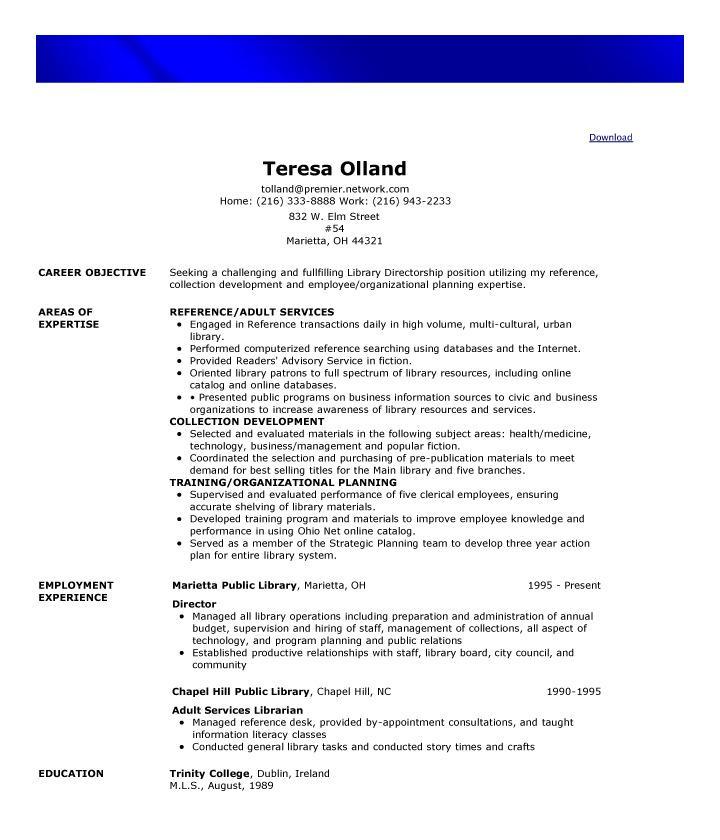 Sample Free Functional Resume Template
