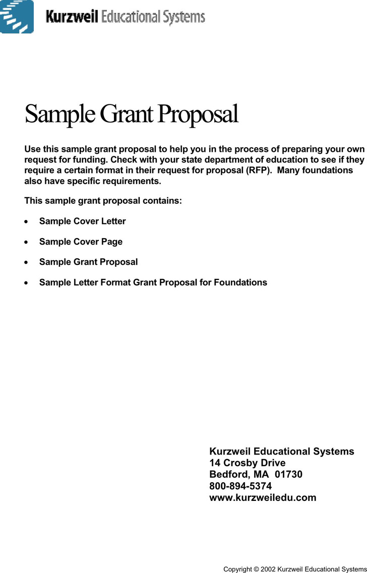 Sample Grant Proposal 2