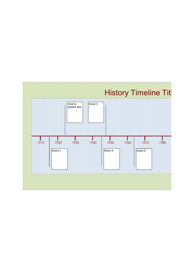 Sample History Timeline Template Excel