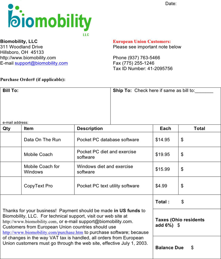 Sample Invoice 4