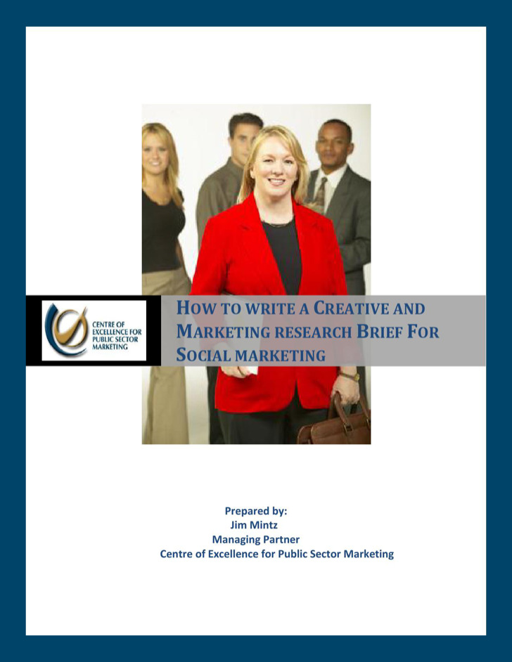 Sample Marketing Research And Creative Brief Template