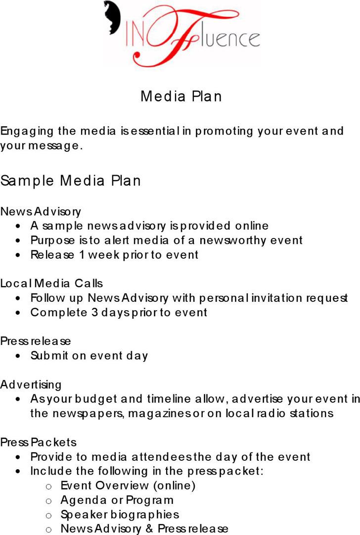 Sample Media Plan Template