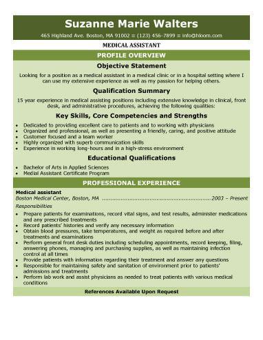 Sample Medical Assistant Resume Template