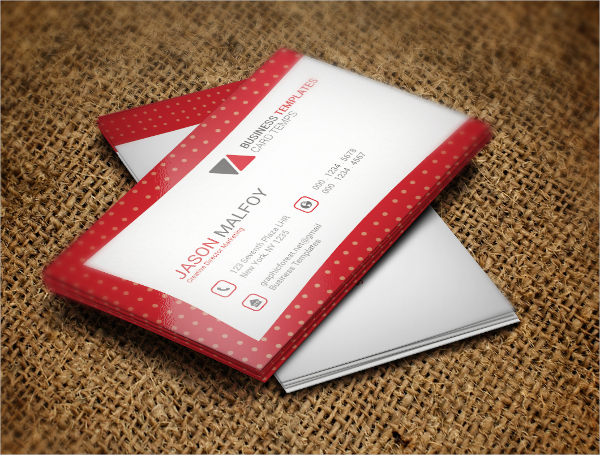 Sample Modern Business Card Template