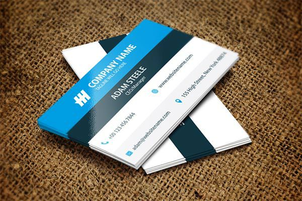 Sample Modern Corporate Business Card Template