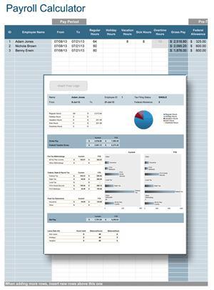 Sample Payroll Calculator Example