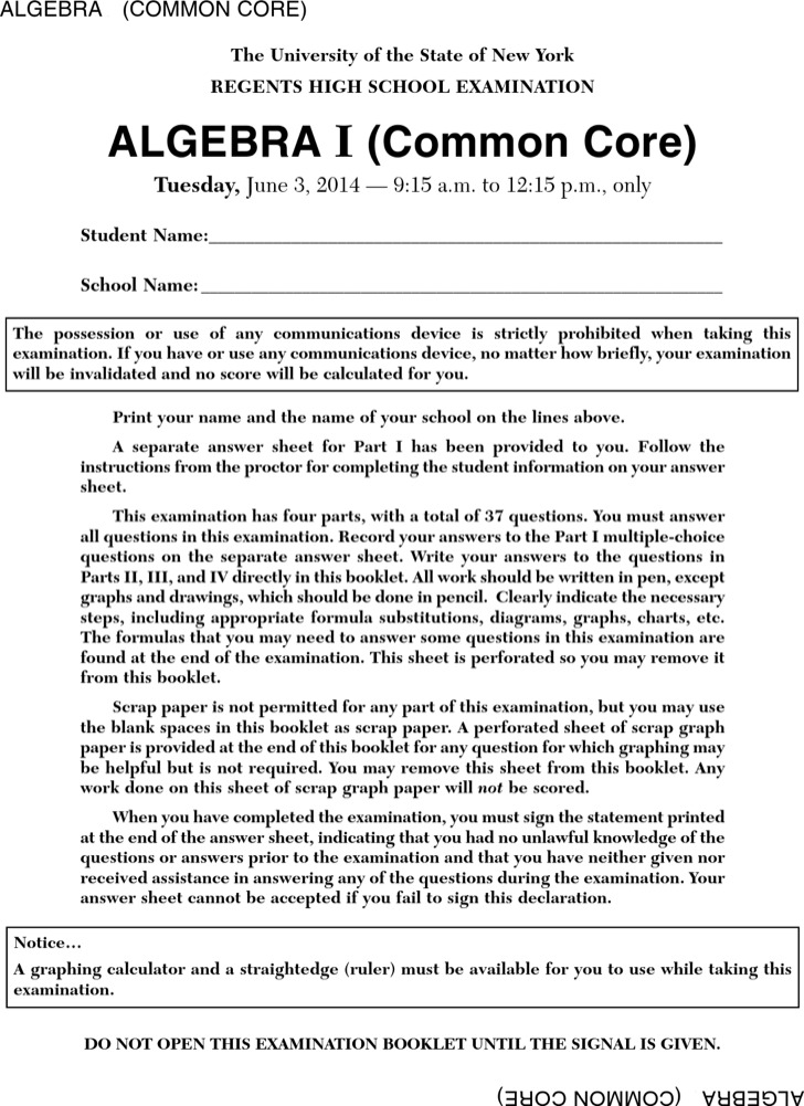 Sample PDF Format of Blank Common Core Sheet