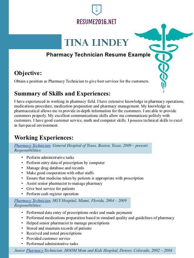 Sample Pharmacist Resume Template