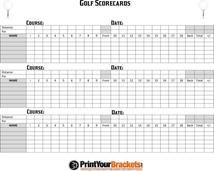 9  golf scorecard templates free download