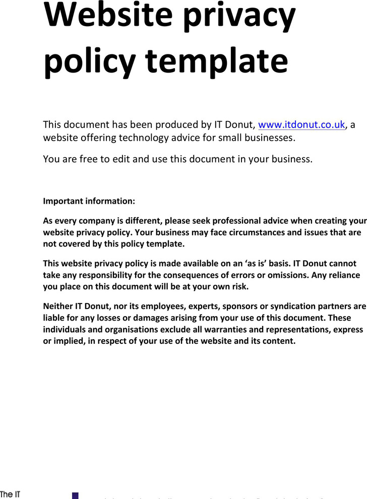 Sample Privacy Policy 2