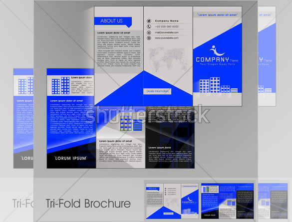 Sample Professional Business three fold Brochure Template