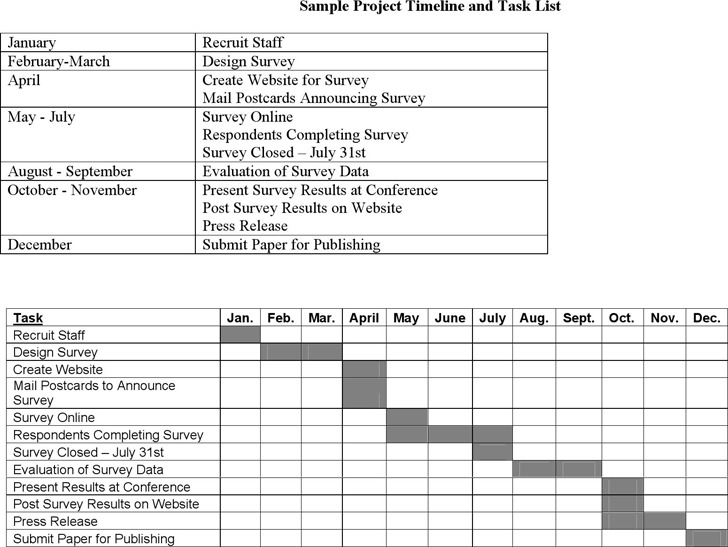 Sample Project Timelines