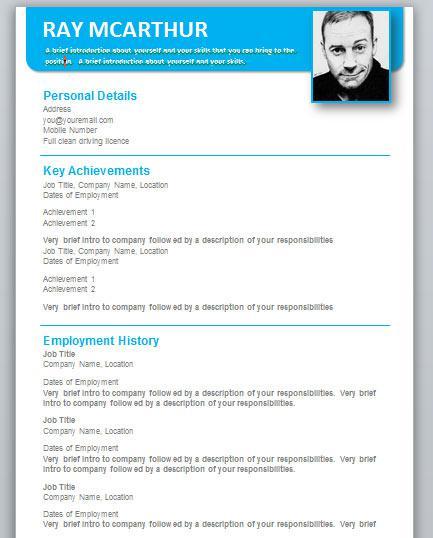 Sample Resume Format Template Download