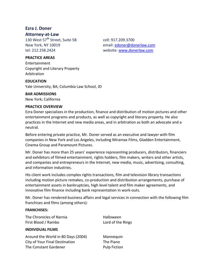 Sample Resume Of Media Related Jobs