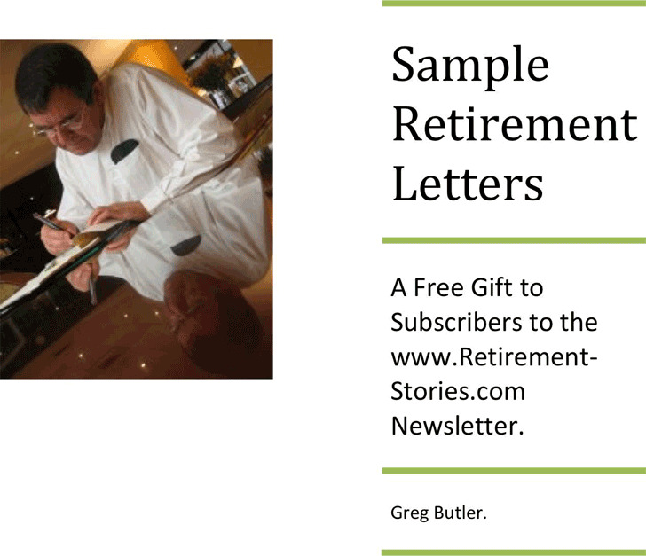 3 retirement letter samples