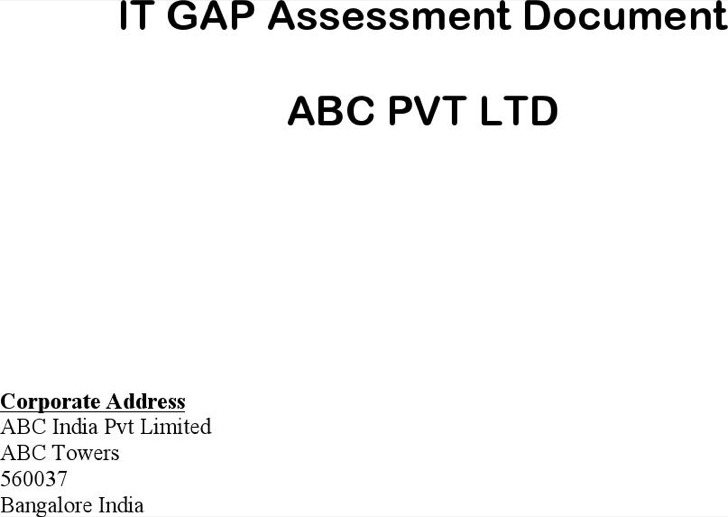 Sample Software Gap Analysis Document
