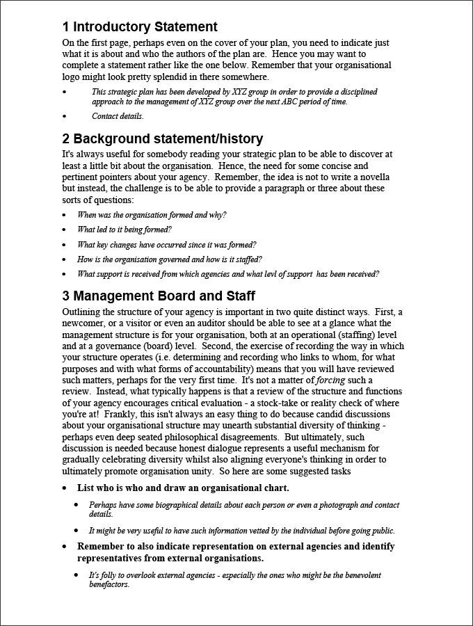 Sample Strategic Plan Template PDF