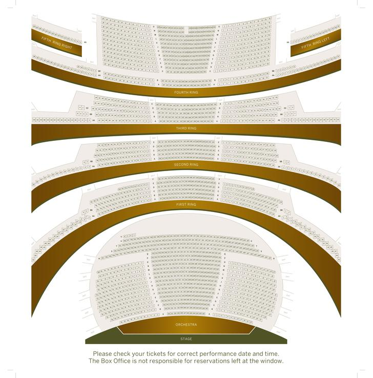 Sample Theater Seating Chart Free PDF Download