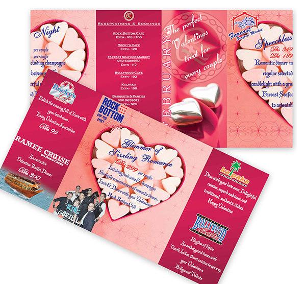Sample Valentine Brochure Design