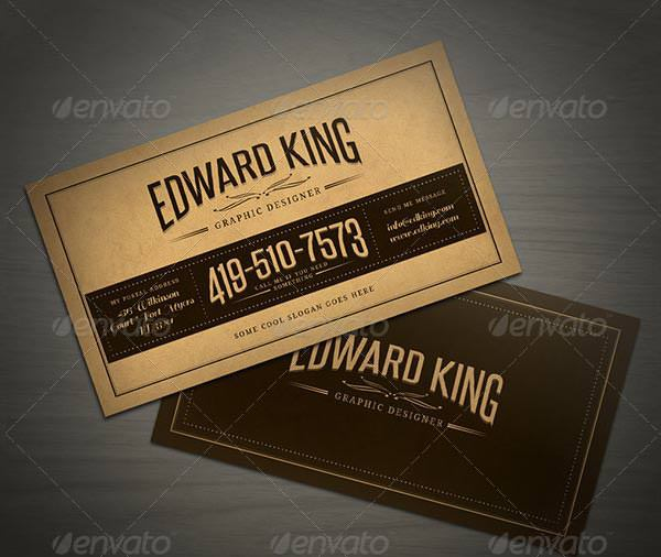 Sample Vintage Style Business Card Template
