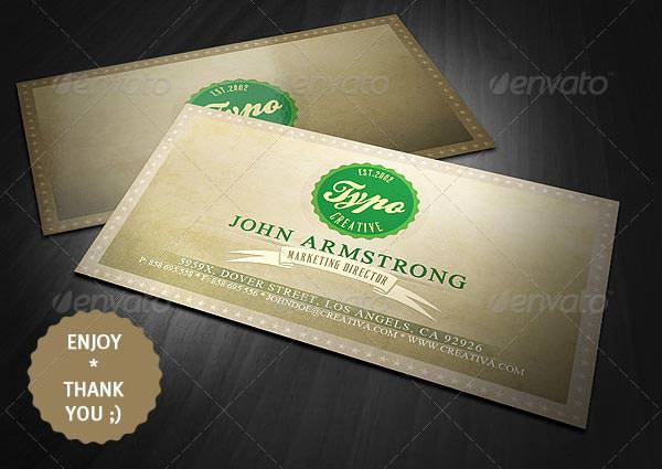 Sample Vintage Style Business Card