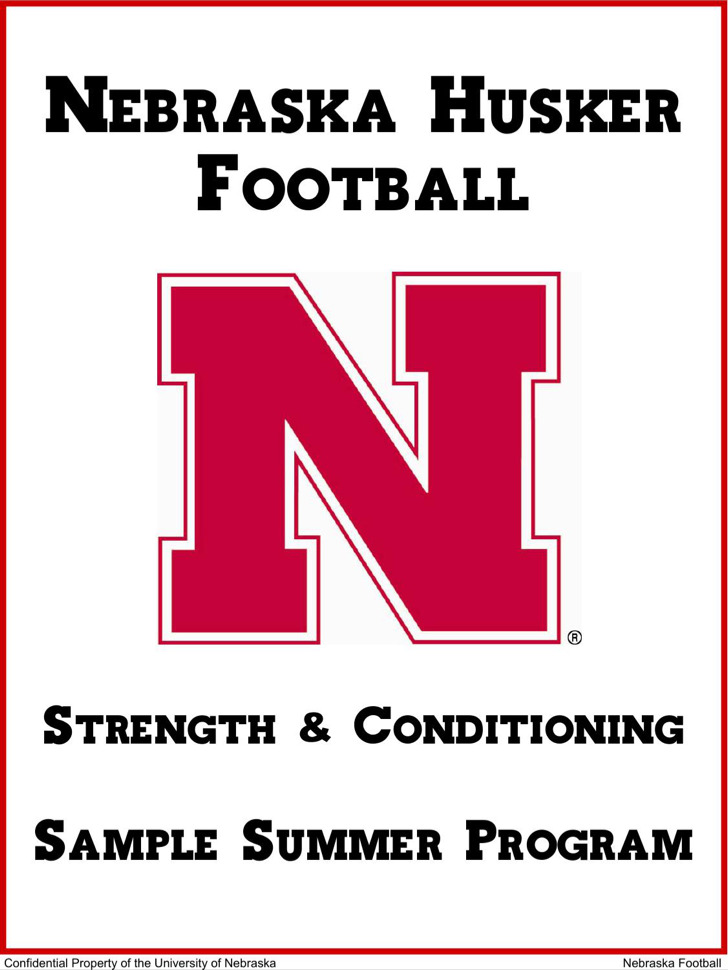 Sample Workout Football Daily Planner