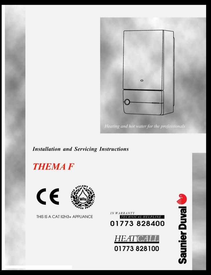 Saunier Duval Installation Manual Sample
