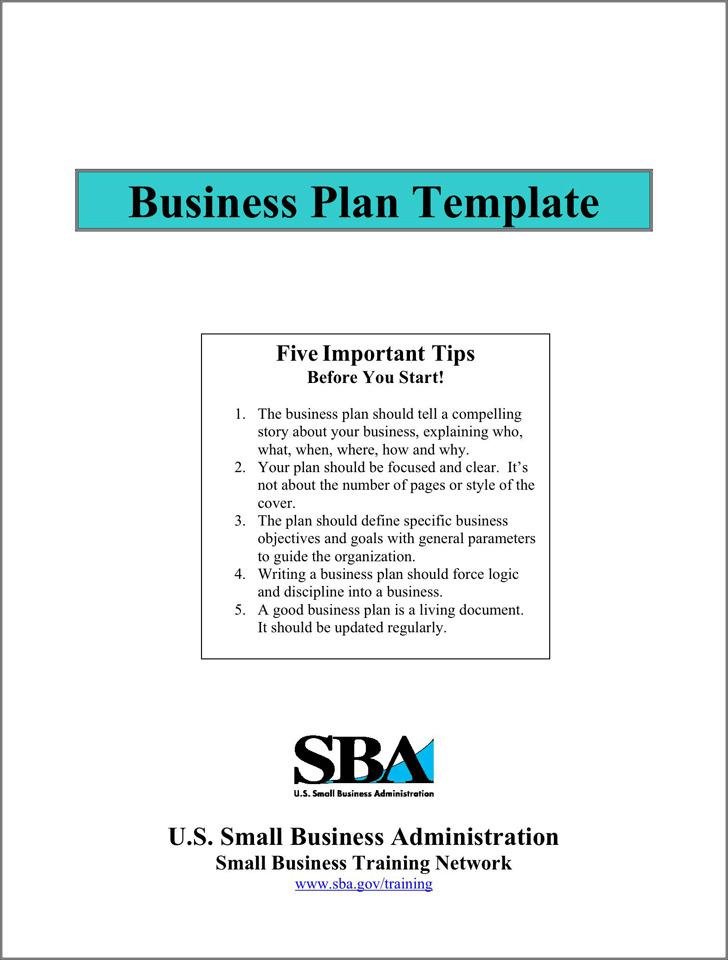 SBA Business Plan Template 1