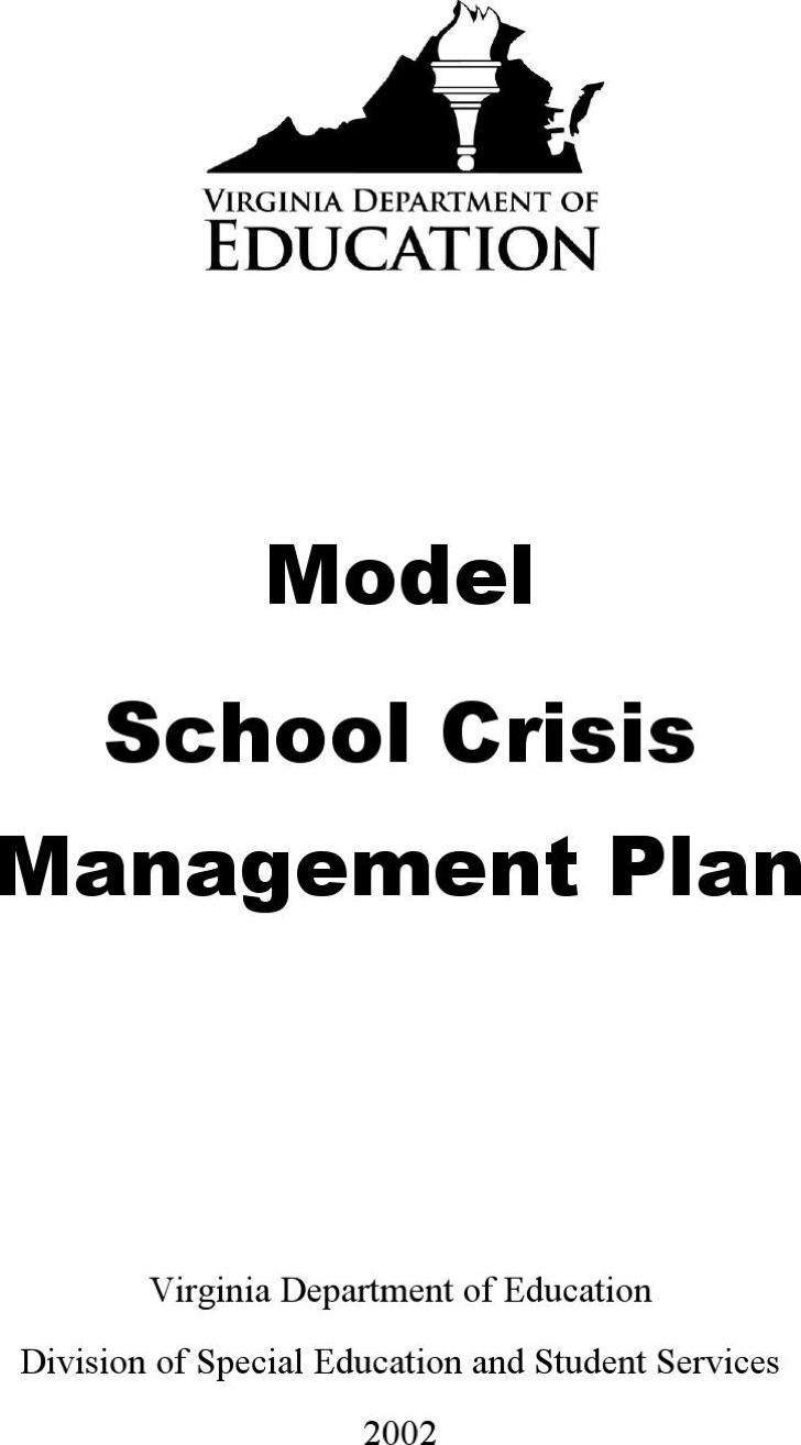 School Crisis Management Plan