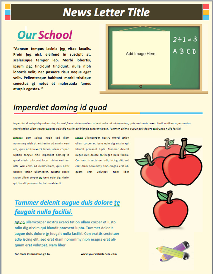 School Newsletter Template 2