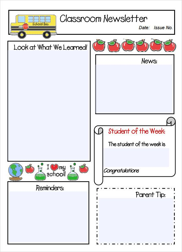 School Newsletter Template 4