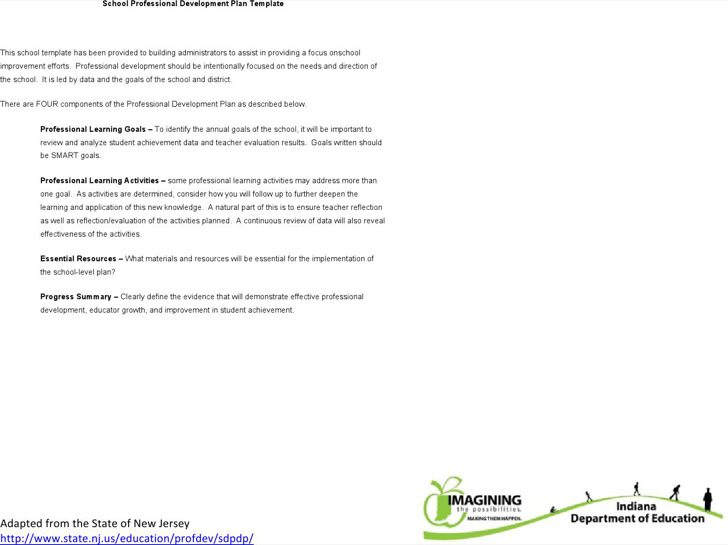 School Professional Development Plan Free Word Download