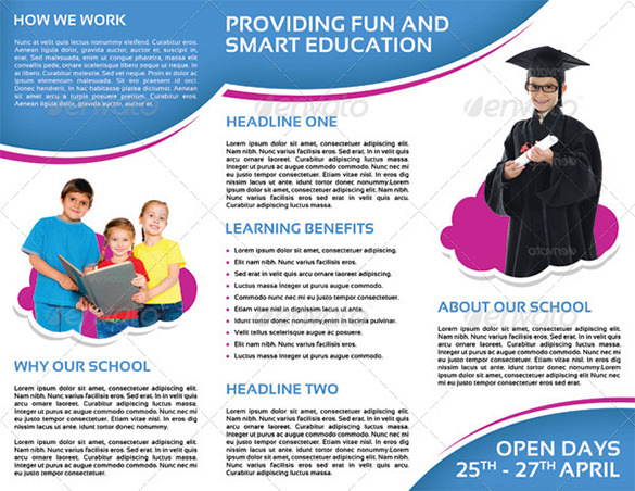 School Promotion Tri-Fold Brochure Vol 1