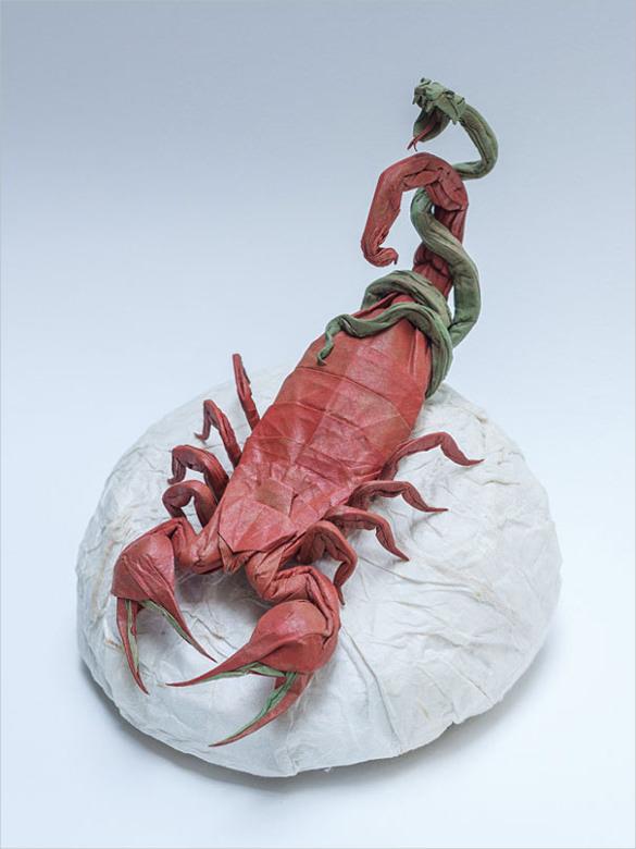 Scorpio Paper Art Design