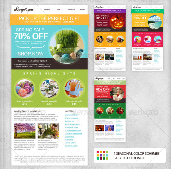 Seasonal Email Newsletter Design Template