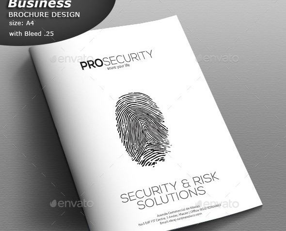 Security Brochure Design Template