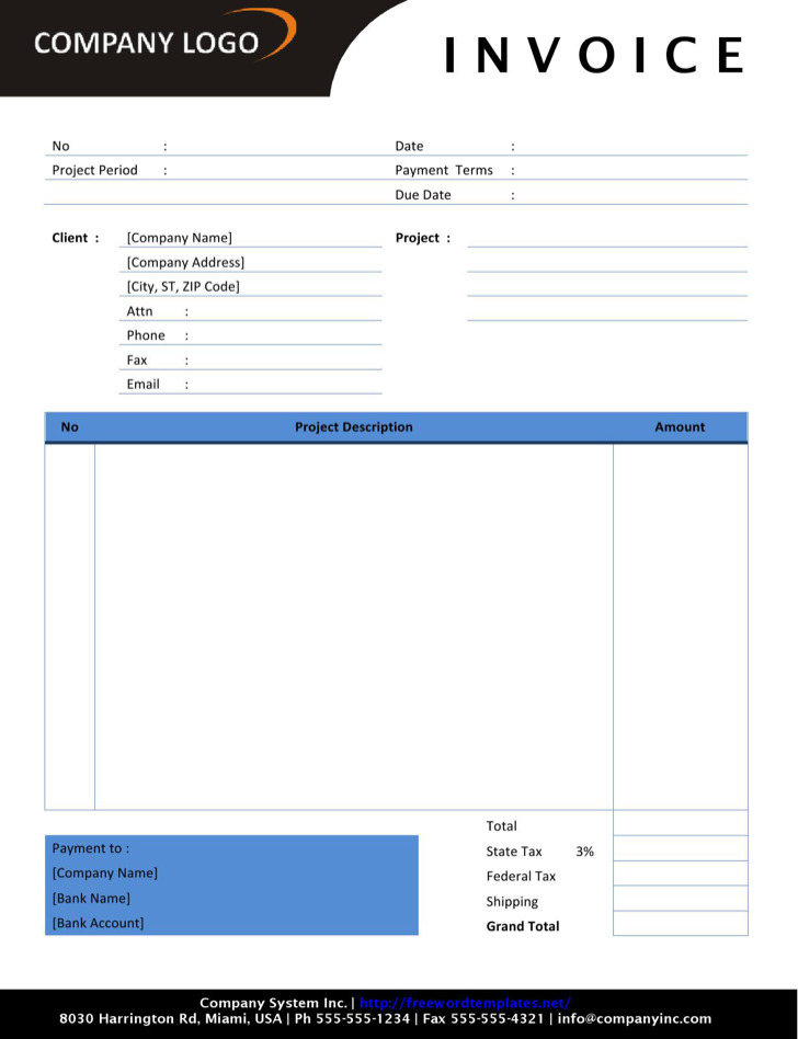 Self Employed Consultant Invoice Template