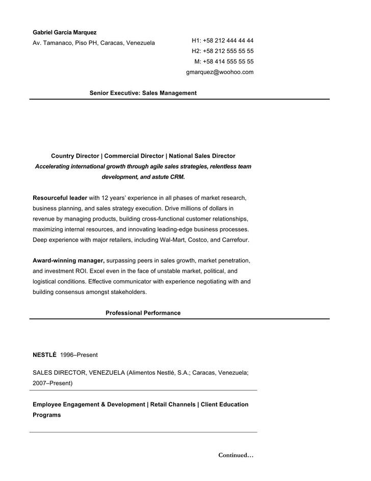 12  executive resume template free download
