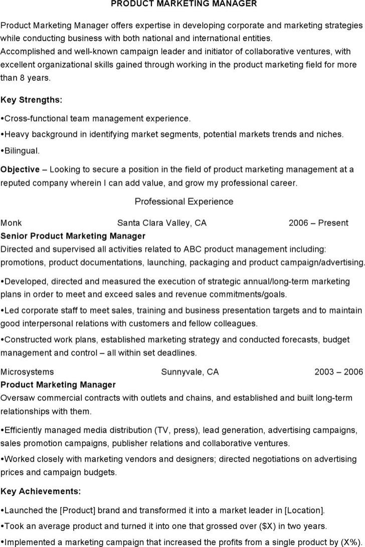 Senior Product Marketing Coordinator Resume