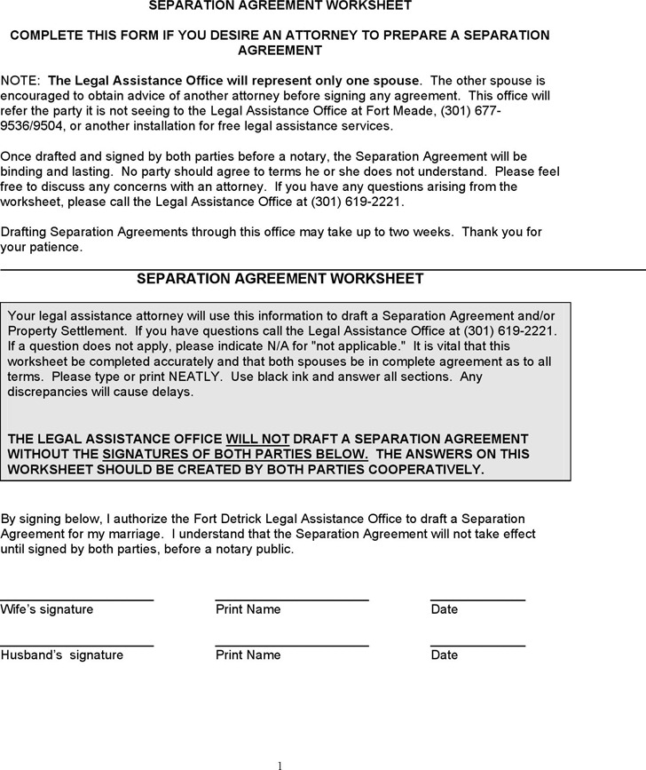 2 Maryland Separation Agreement Template Free Download