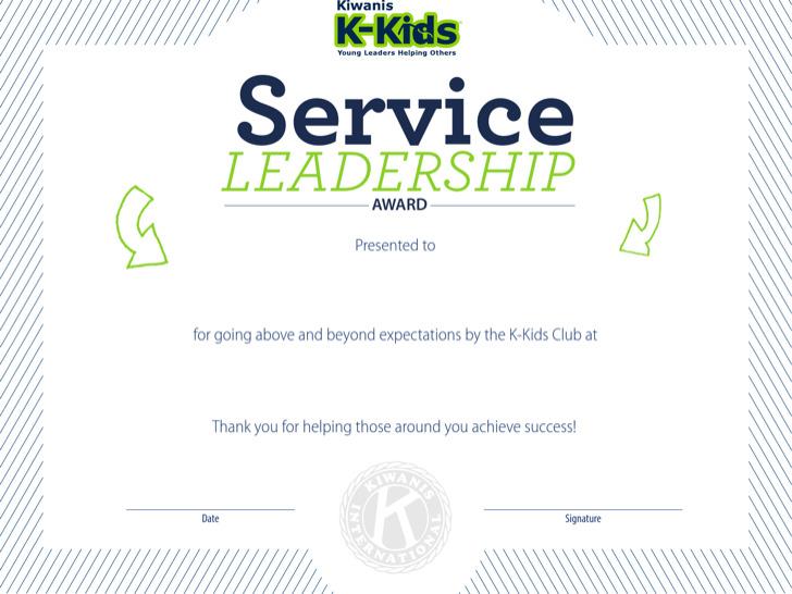Service Leadership Certificate Template