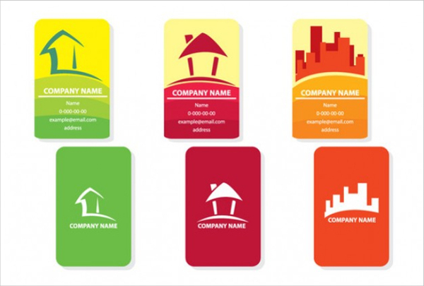 Set of Real Estate Cards Free Vector