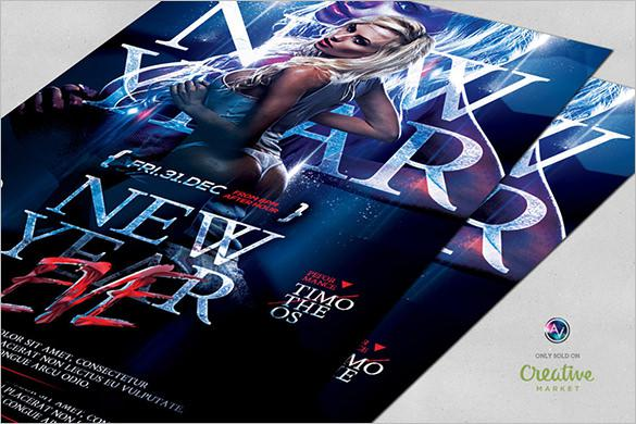 20 new year flyer templates free download