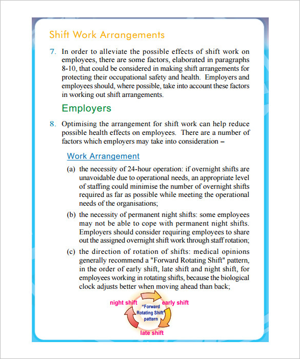 Shift Schedule Work Arrangement Download