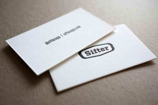 Sifter Letterpress Business Card Design