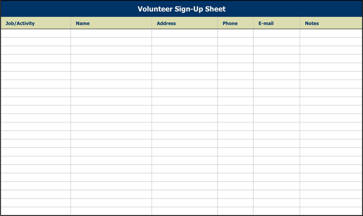 10 sign up sheet template free download