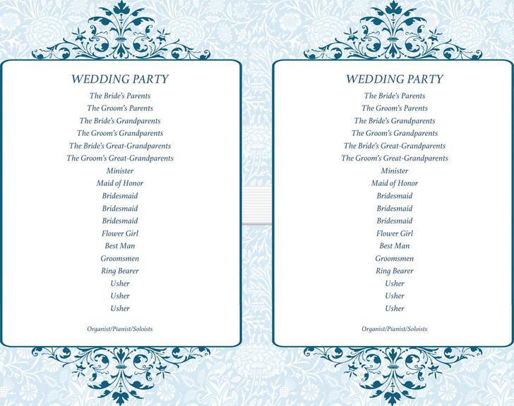 simple ceremony wedding program fans doc download